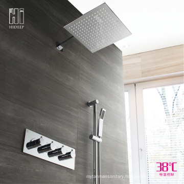 HIDEEP Chrome Full Copper Thermostatic Shower Faucet Set